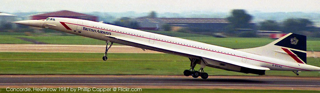 Concorde, Heathrow 1987 by Phillip Capper