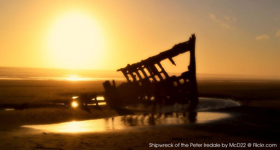 Shipwreck of the Peter Iredale by McD22