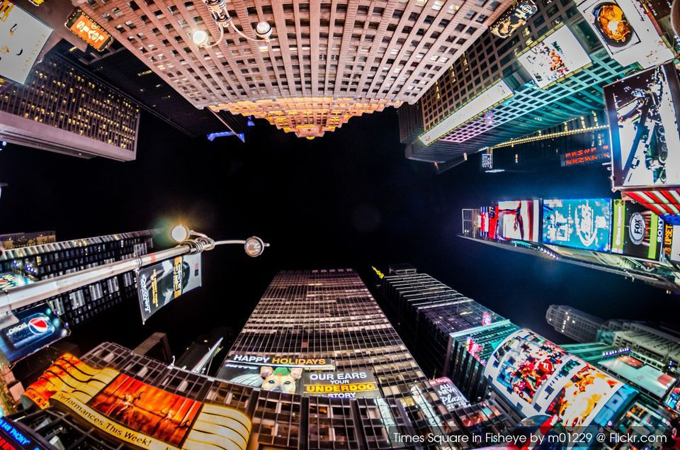 Times Square in Fisheye by m01229