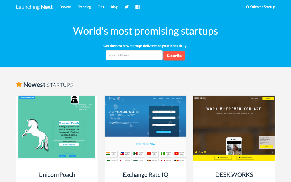 promote your startup on launching next
