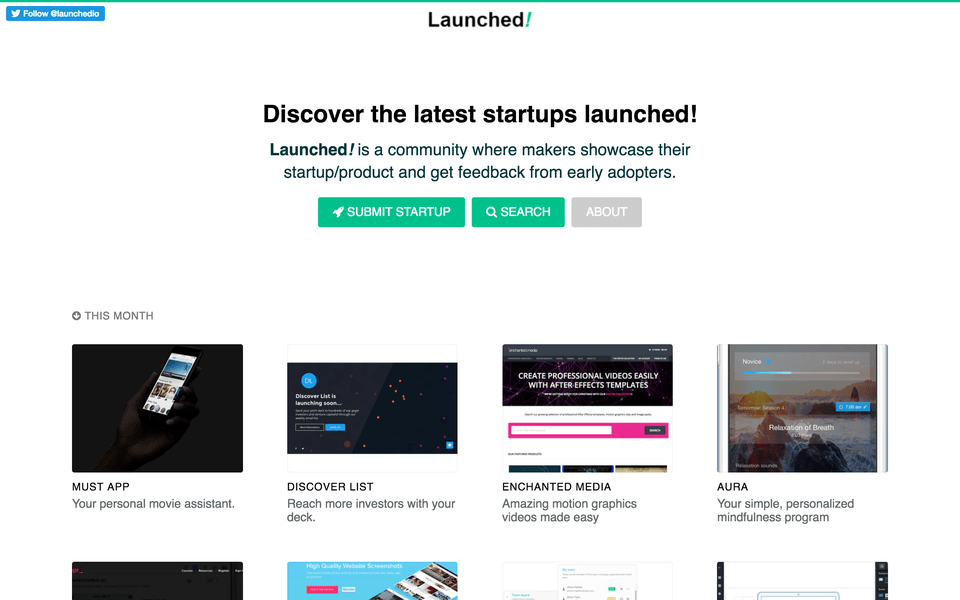 promote your startup on launched.io