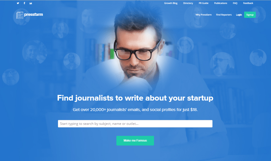Pressfarm – An easy way to find journalists to write about your startup