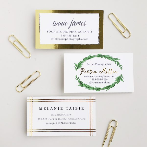 Basic Invite Foil Business Cards