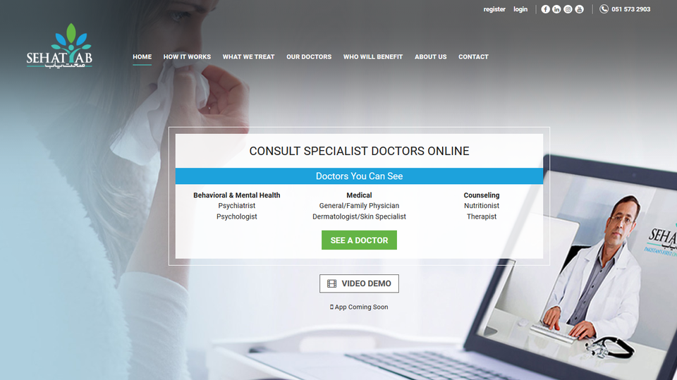 SehatYab - First Pakistan Online Clinic