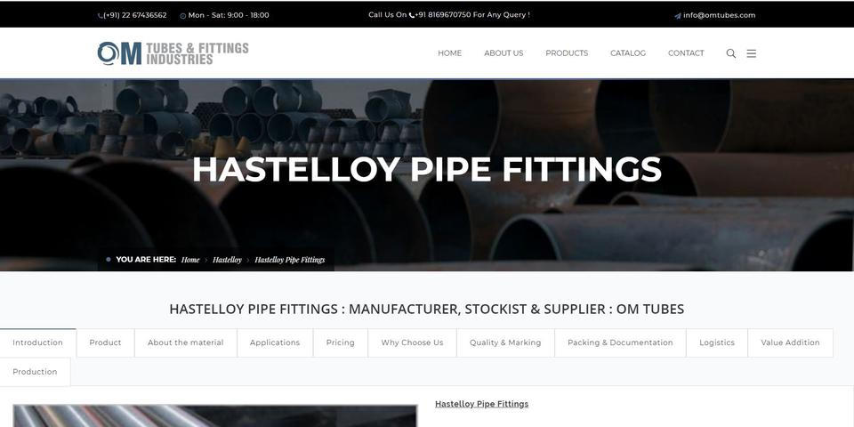 Hastelloy Pipe Fittings Supplier