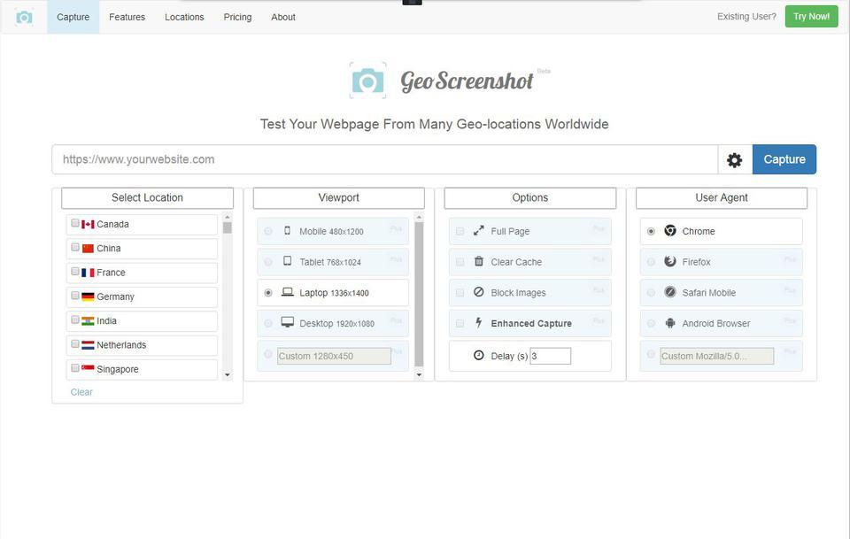 GeoScreenshot
