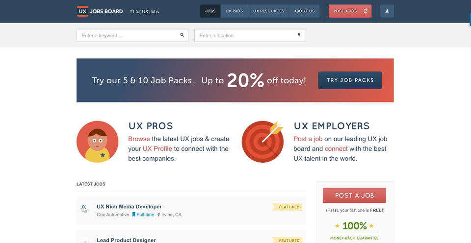 UX Jobs Board