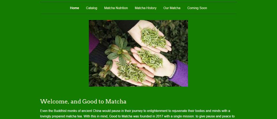 Good to Matcha