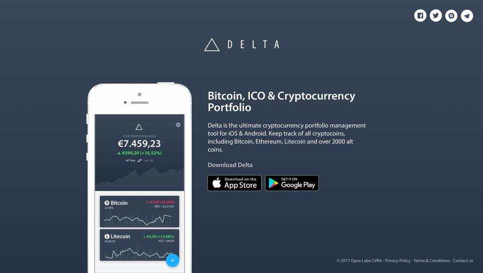 Delta - Cryptocurrency Portfolio
