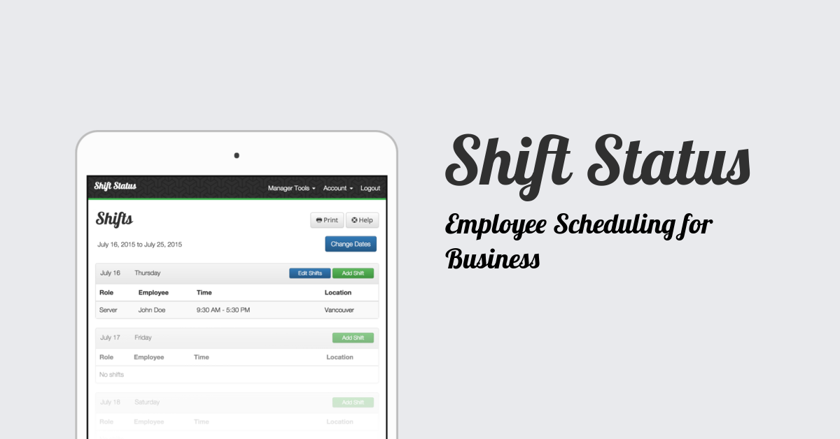 Shift Status