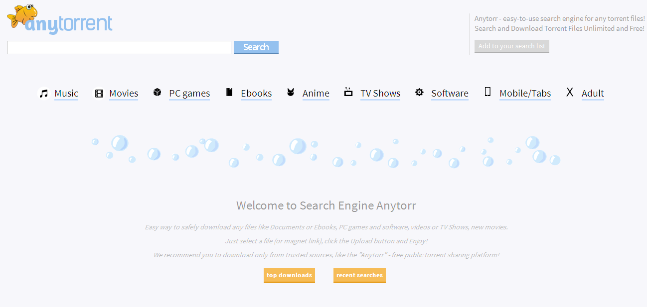 Anytorr Search Engine