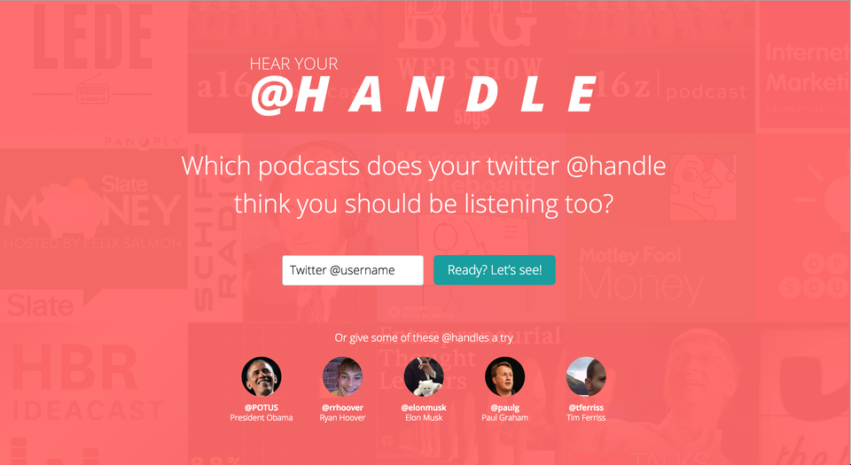 Hear Your @Handle