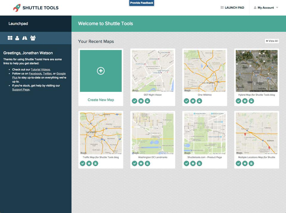 Shuttle Tools Map Manager