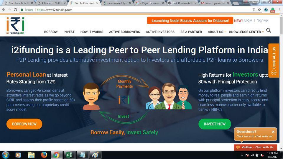 Peer to Peer Lending Sites