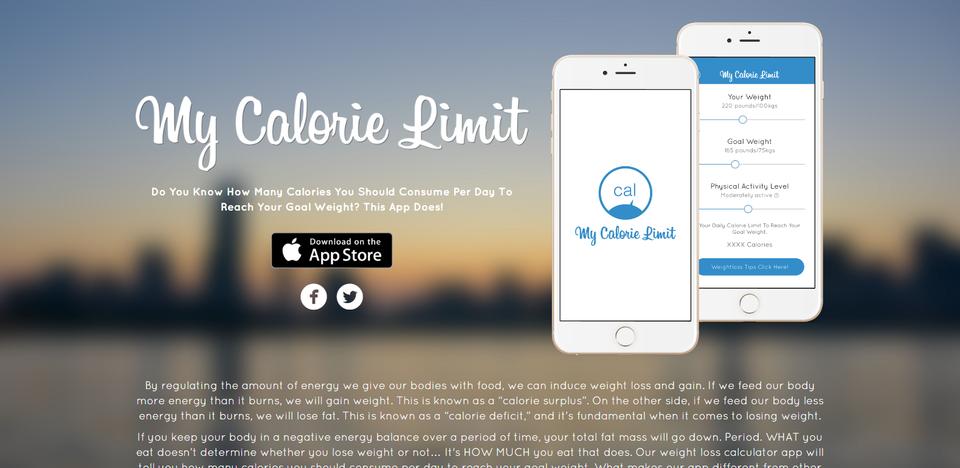 My Calorie Limit