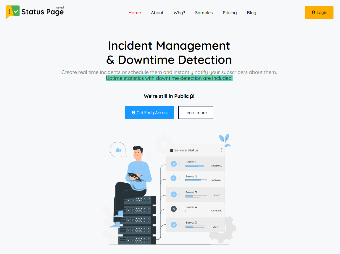 Hosted Status Page