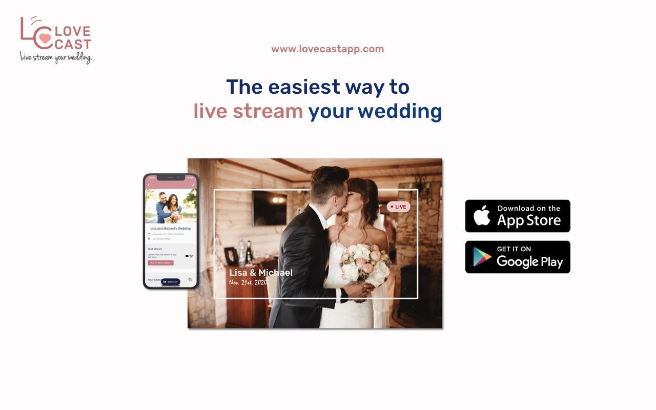 Lovecast Wedding Live Stream