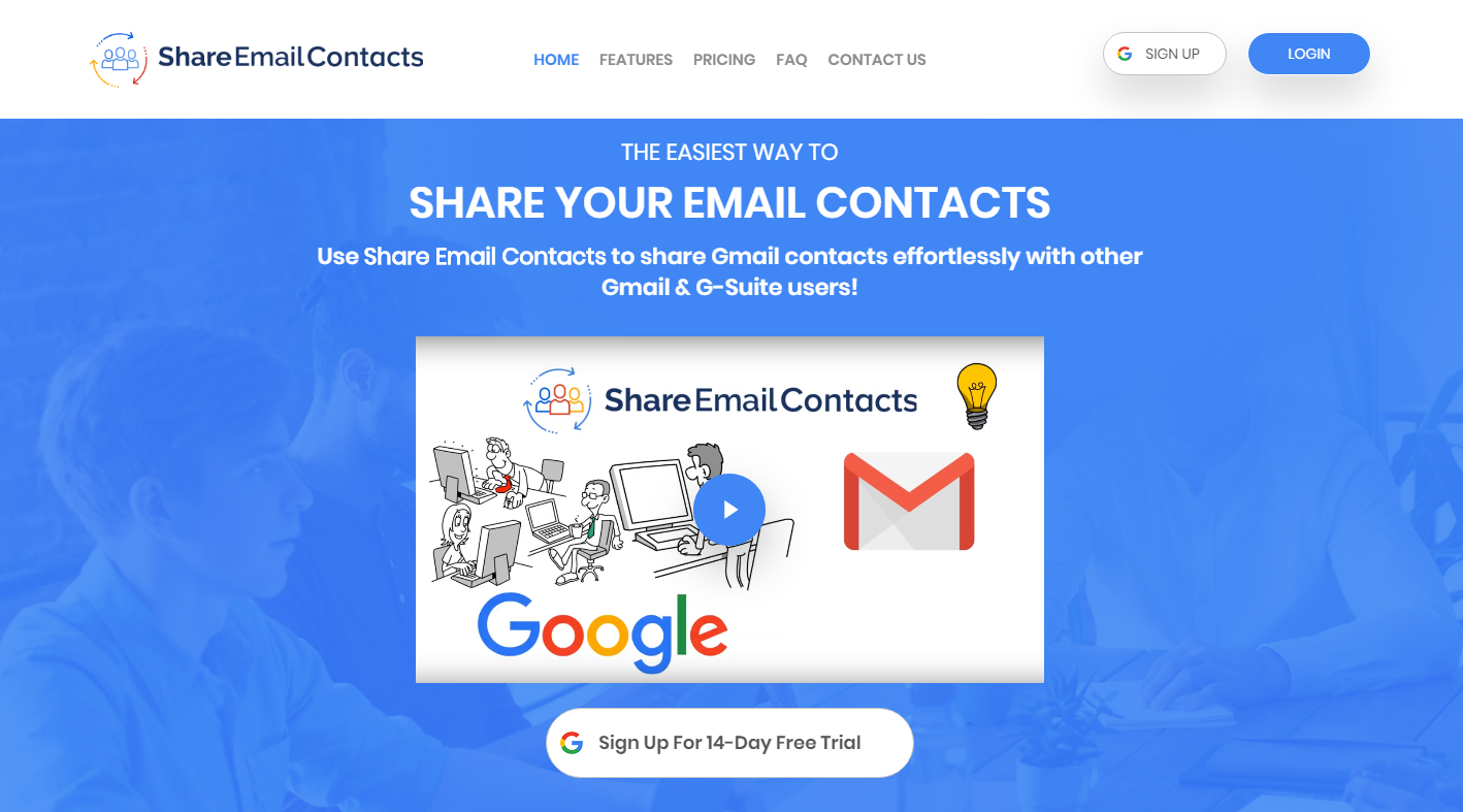 Share Email Contacts for Gmail