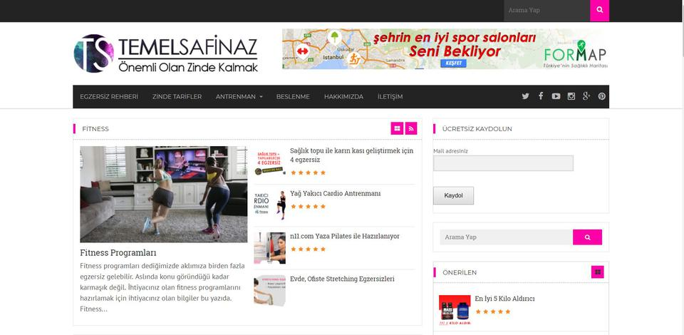 TemelSafinaz Healthy Living Platform