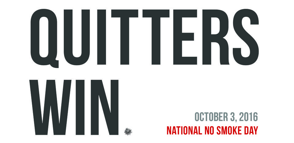 Quitters Win - National No Smoke Day