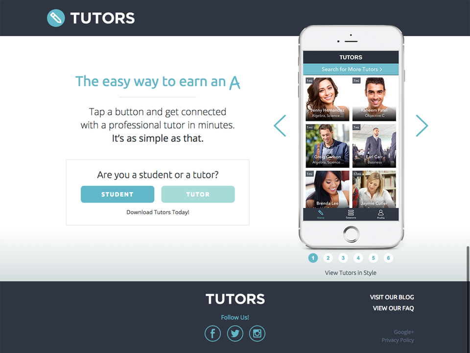 Tutors App