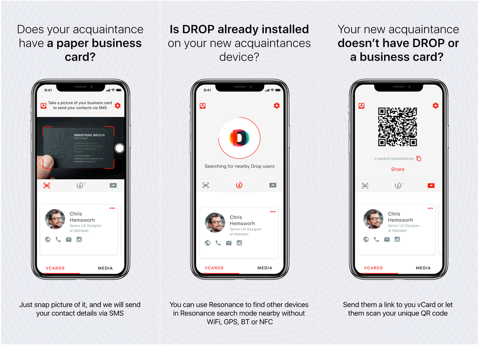 DROP: the Seamless Contact Exchange