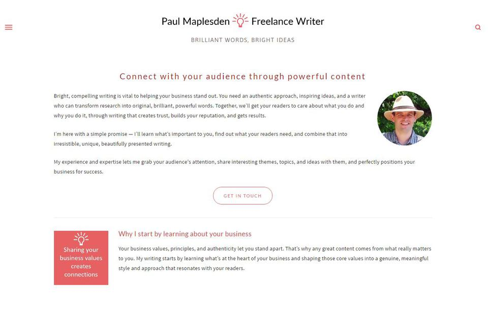 Paul Maplesden - Freelance Writing Servi