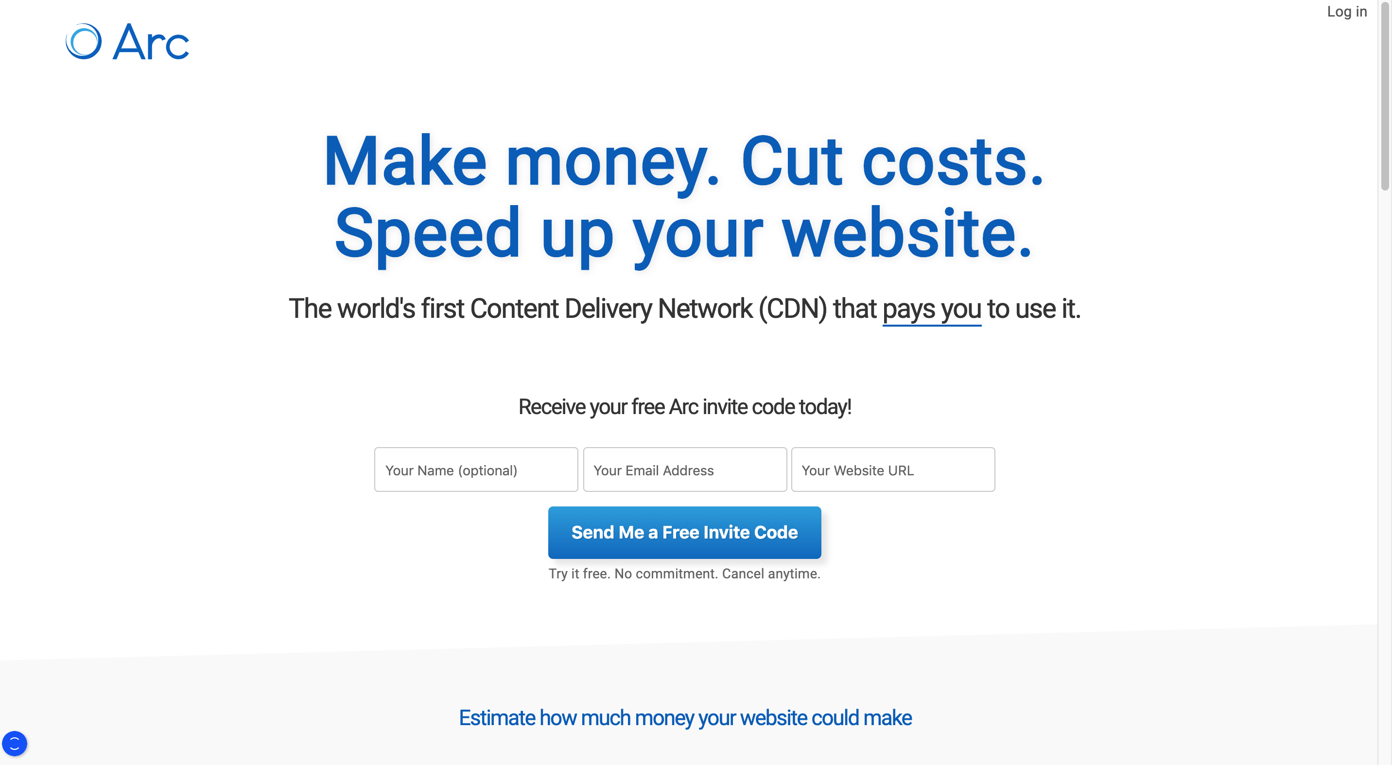 Monetize your website with Arc