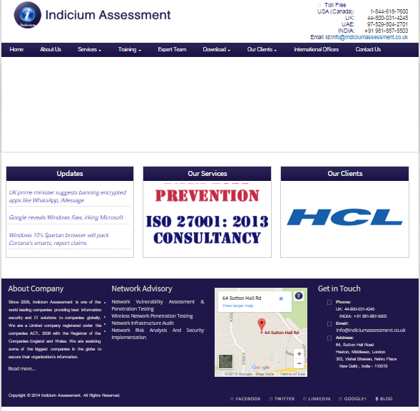 Indicium Assessment