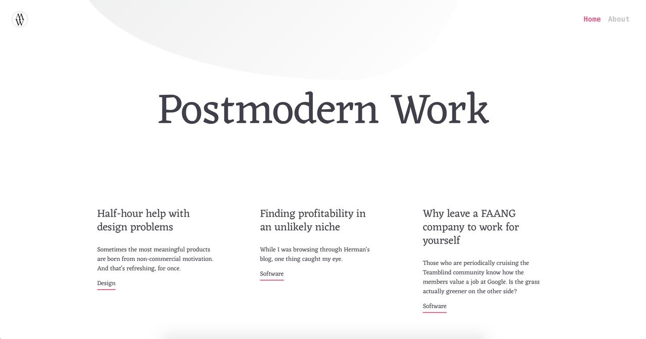 Postmodern Work