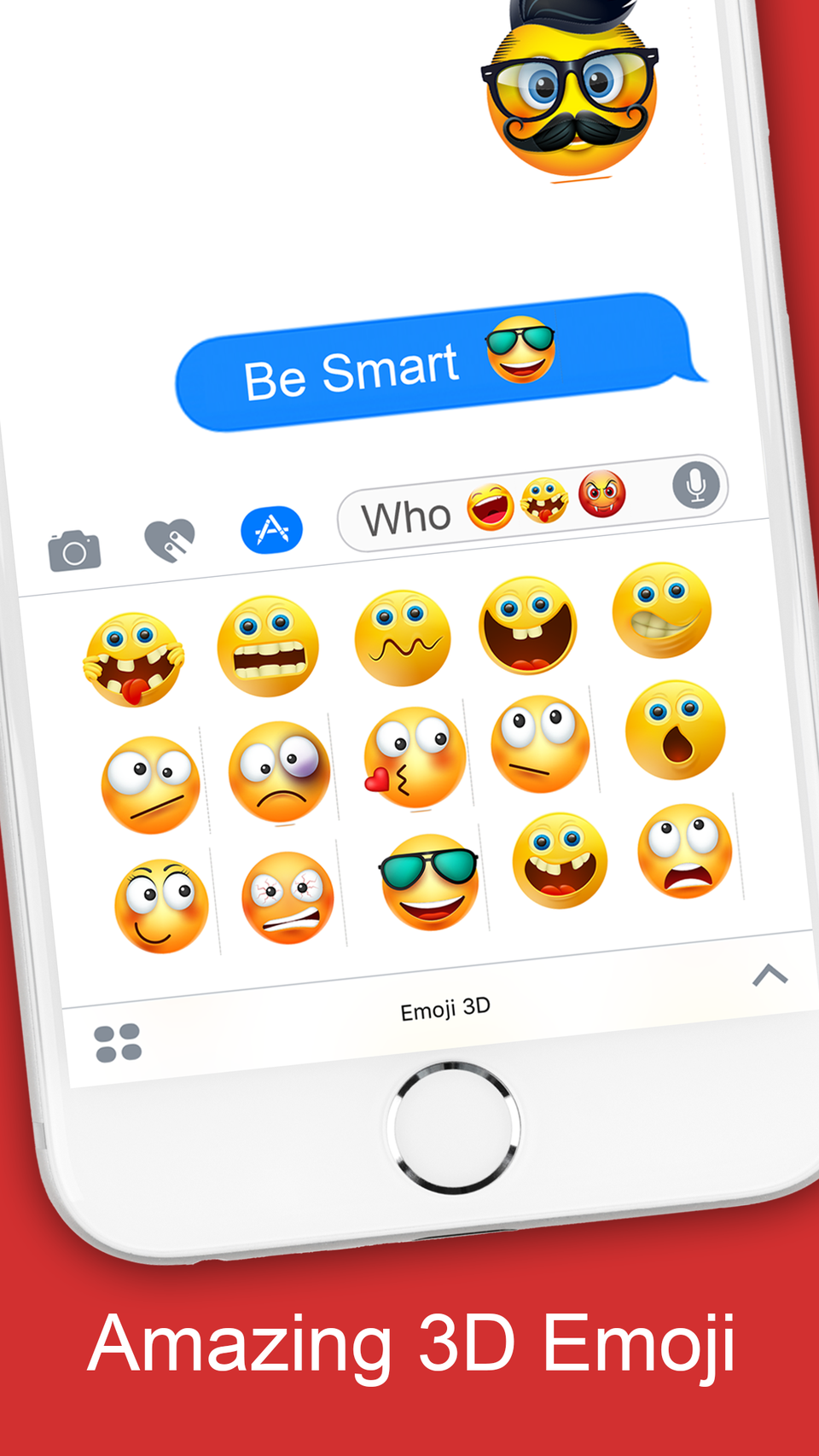 Emoji 3D Stickers for iMessage iOS