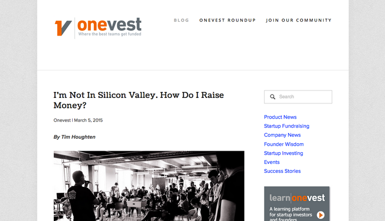 The Onevest Blog